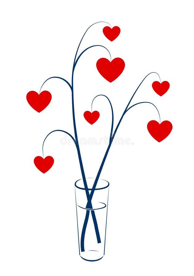 Dos ramificaciones con los corazones