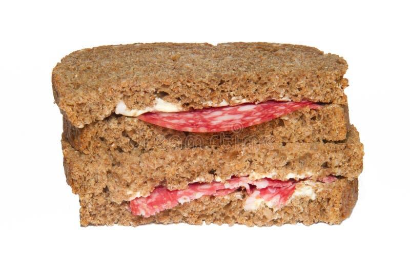 Dos rebanadas de pan imagen de archivo