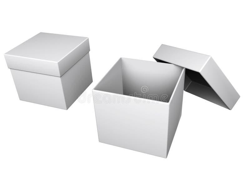 Dos rectángulos grises stock de ilustración
