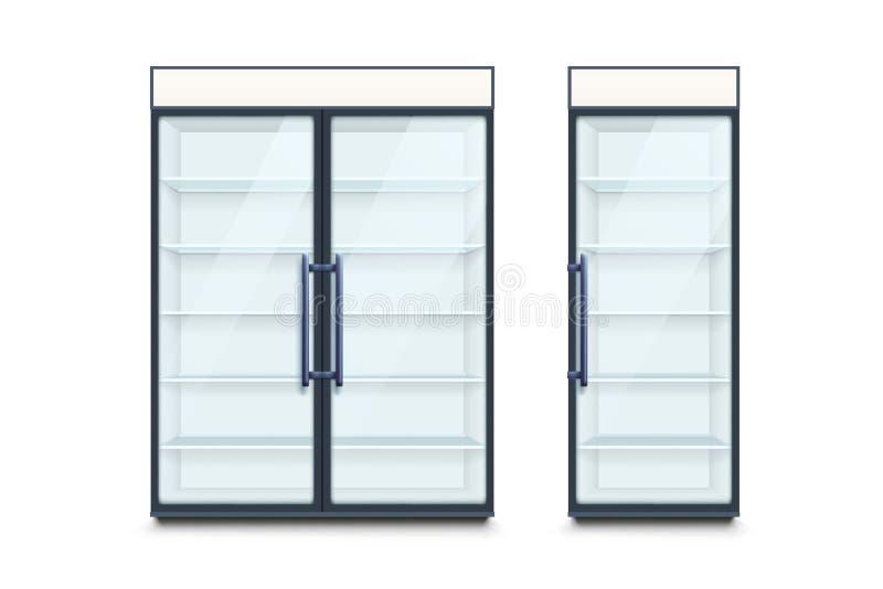 Dos refrigeradores comerciales stock de ilustración