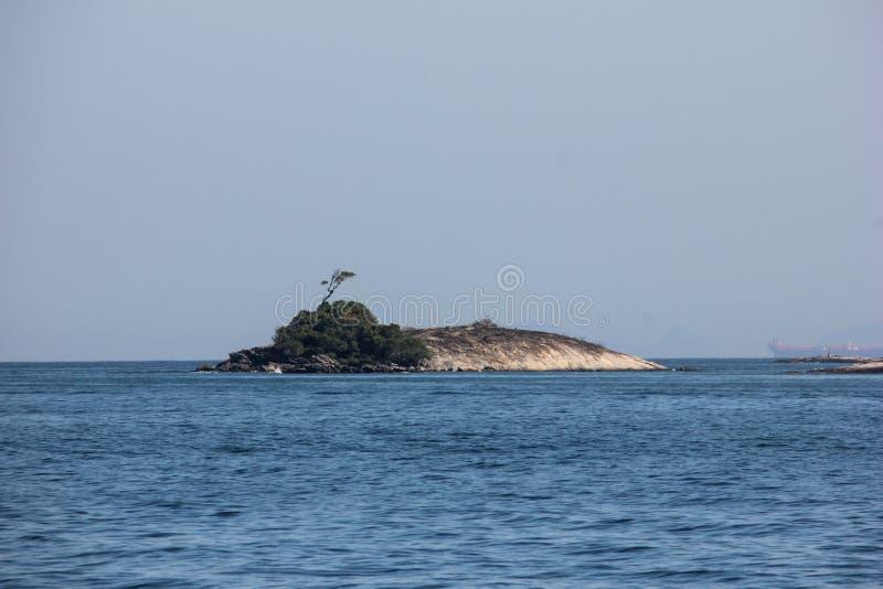 DOS Reis et Ilha d'Angra grands sont les destinations de touristes en Rio de Janeiro image stock