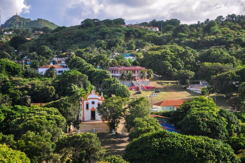 DOS Remedios, Fernando de Noronha, Pernambuco Vila (Βραζιλία) στοκ εικόνες
