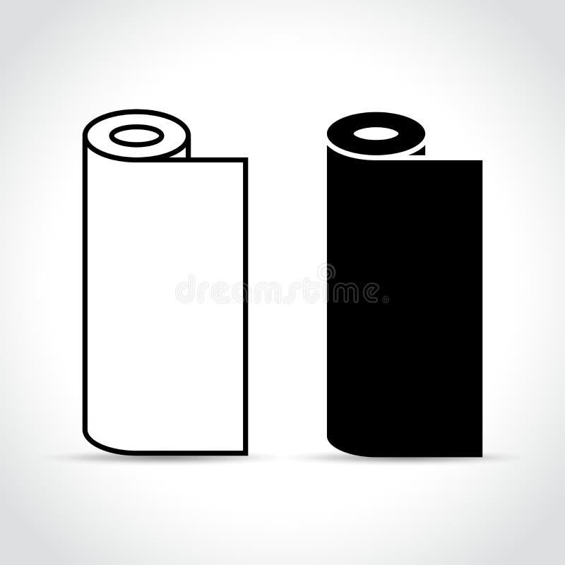 Dos rollos en el fondo blanco libre illustration