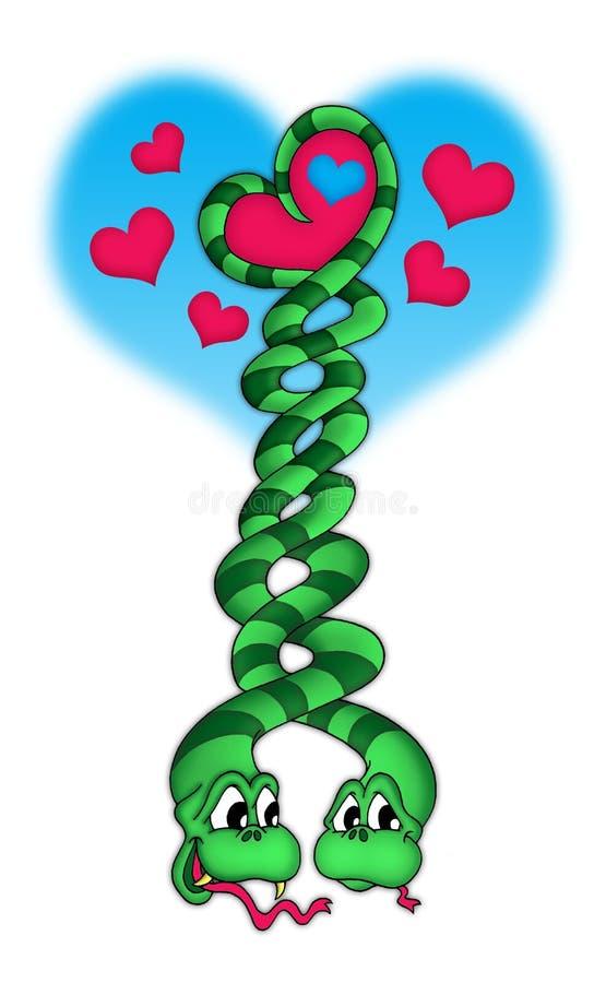 Dos serpientes ilustración del vector