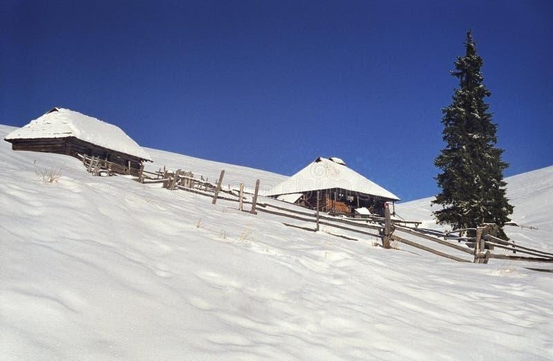 Dos Sheepfold foto de archivo libre de regalías