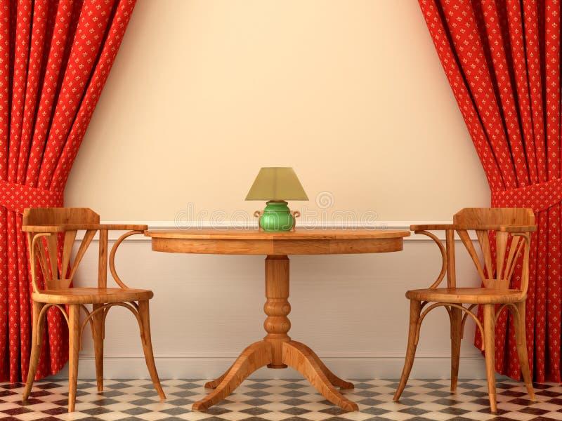 Dos sillas y una mesa de centro libre illustration