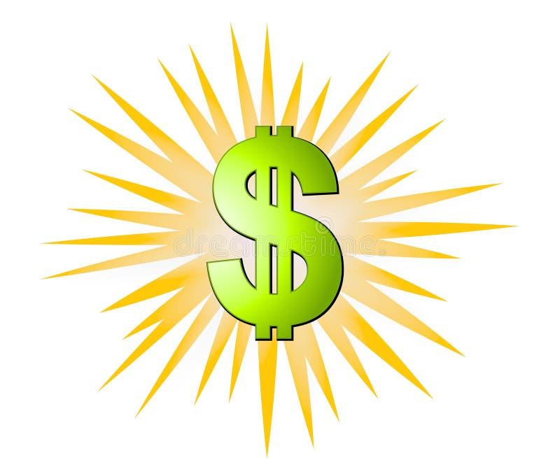 Dos sinais dólares da explosão do dinheiro ilustração royalty free