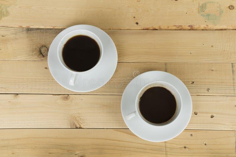 Dos tazas de mañana del café foto de archivo libre de regalías