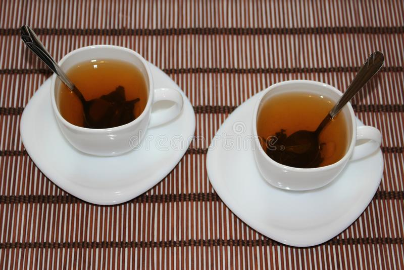 Dos tazas de té foto de archivo