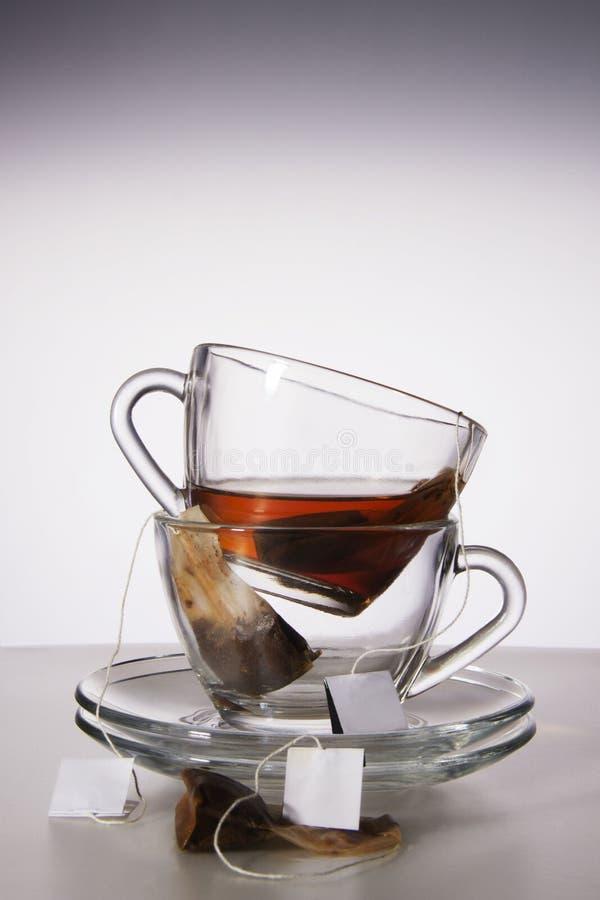 Dos tazas de té imagen de archivo libre de regalías