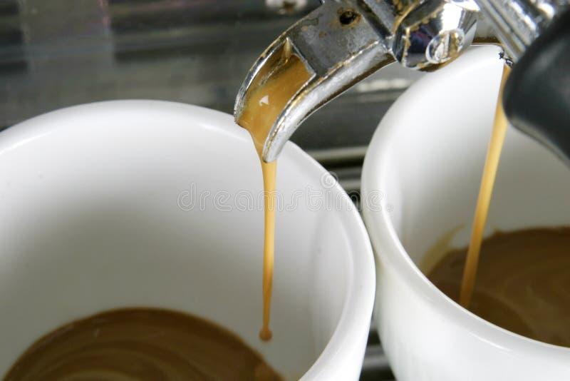 Dos tazas del café express imagenes de archivo