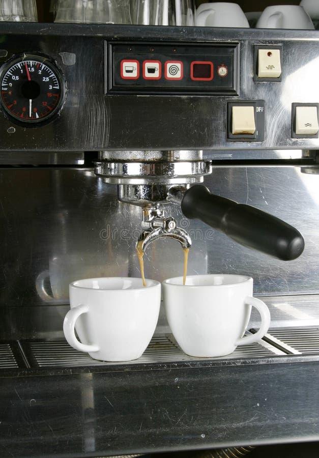 Dos tazas del café express fotos de archivo libres de regalías