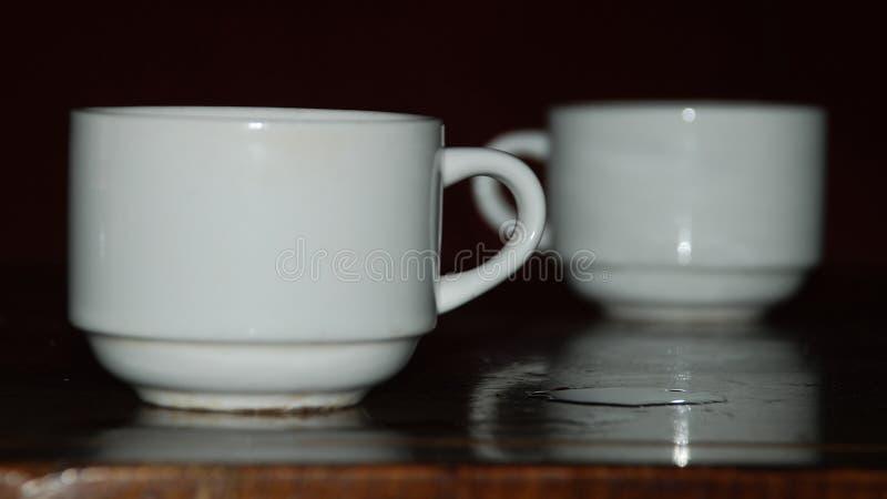 Dos tazas en el vector foto de archivo libre de regalías