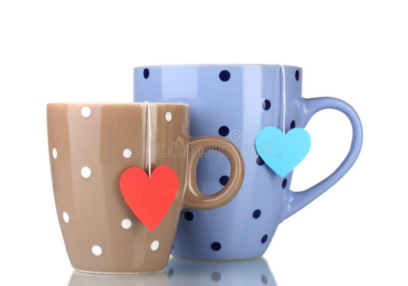 Dos tazas y bolsitas de té fotografía de archivo libre de regalías