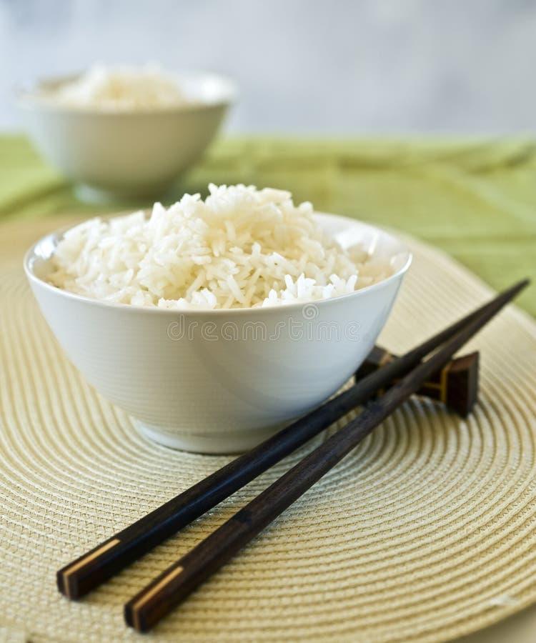 Dos tazones de fuente de arroz foto de archivo libre de regalías