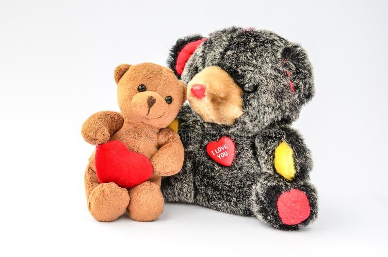 Dos Teddy Bears de abrazo imágenes de archivo libres de regalías