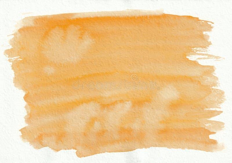 Dos tiré par la main de gingembre de gradient horizontal orange d'aquarelle illustration libre de droits