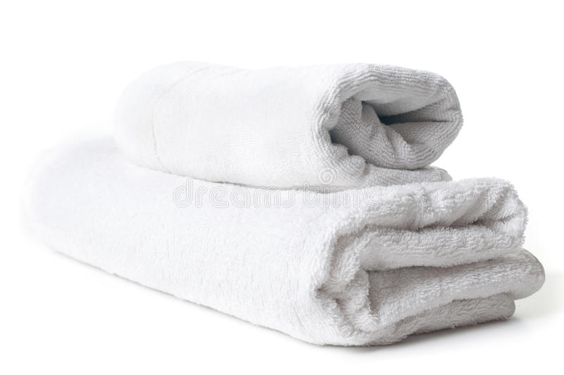 Dos toallas de terry blancas imagen de archivo libre de regalías