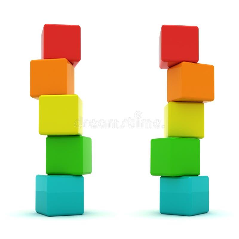 Dos torres stock de ilustración