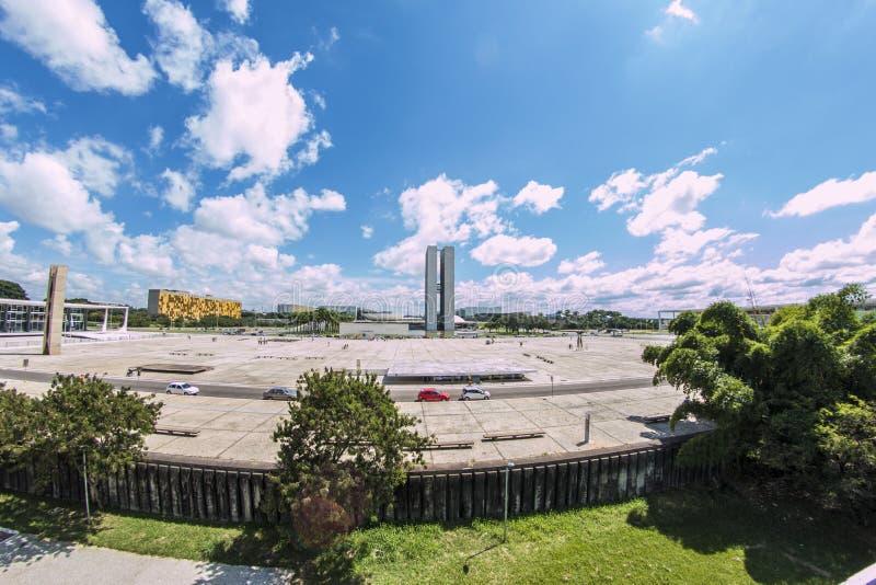Dos Três Poderes- Brasília de Praça - DF - Brasil fotografia de stock royalty free