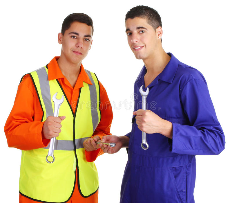 Dos trabajadores foto de archivo