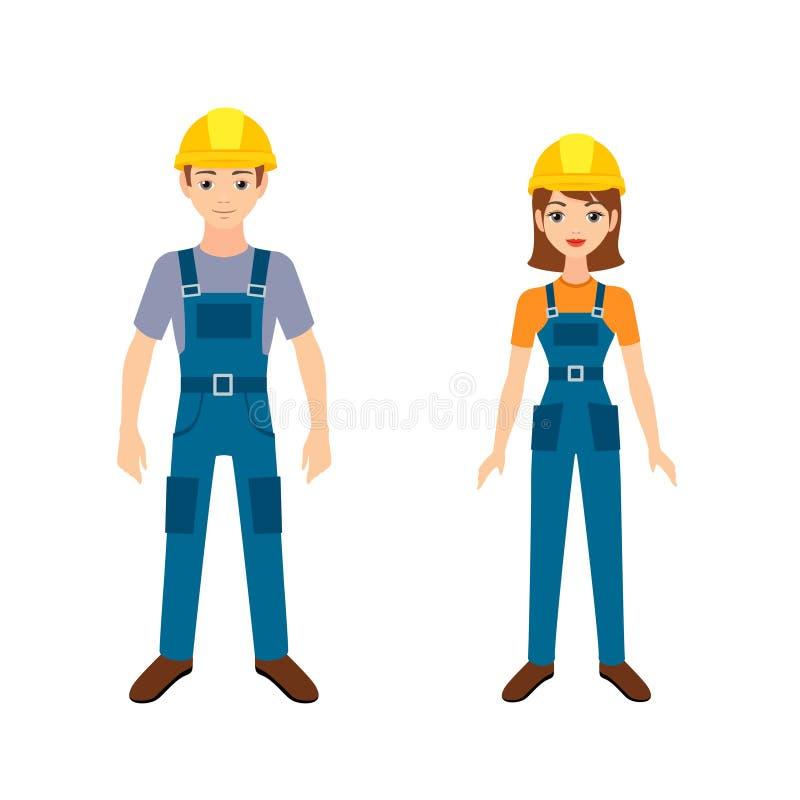 Dos trabajadores jovenes ilustración del vector