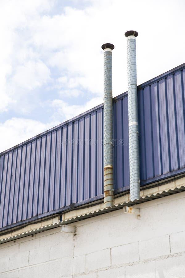 Dos tubos de la ventilación imagen de archivo