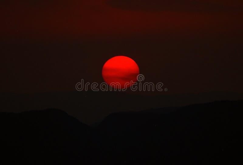 DOS Veadeiros - puesta del sol de Chapada imágenes de archivo libres de regalías