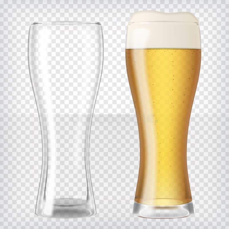 Dos vidrios de cerveza ilustración del vector