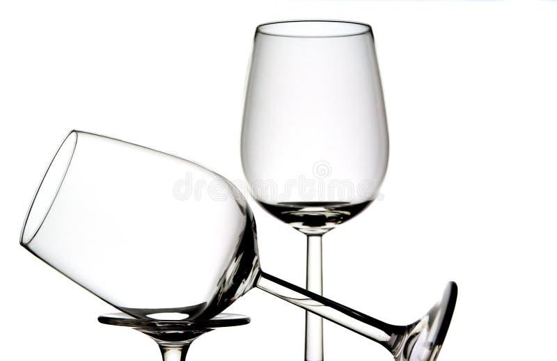 Dos vidrios de vino foto de archivo