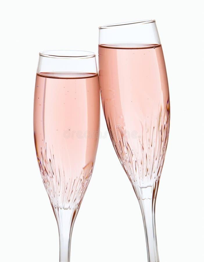Dos vidrios del champán imagen de archivo