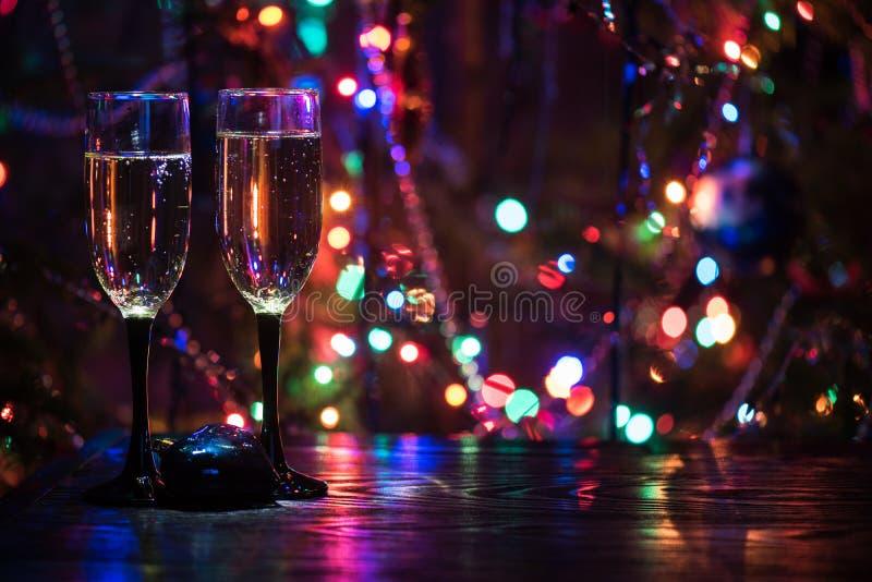 Dos vidrios del shampagne fotos de archivo libres de regalías