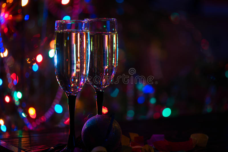 Dos vidrios del shampagne foto de archivo libre de regalías