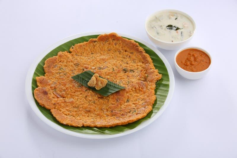Dosa sano indiano del sud di adai della prima colazione immagine stock