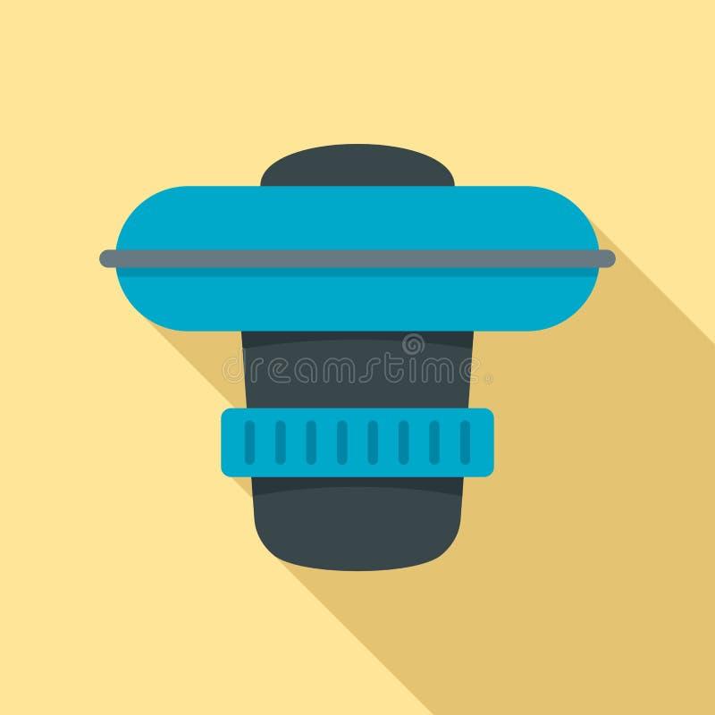 Dosage de l'icône de dispositif de piscine, style plat illustration de vecteur