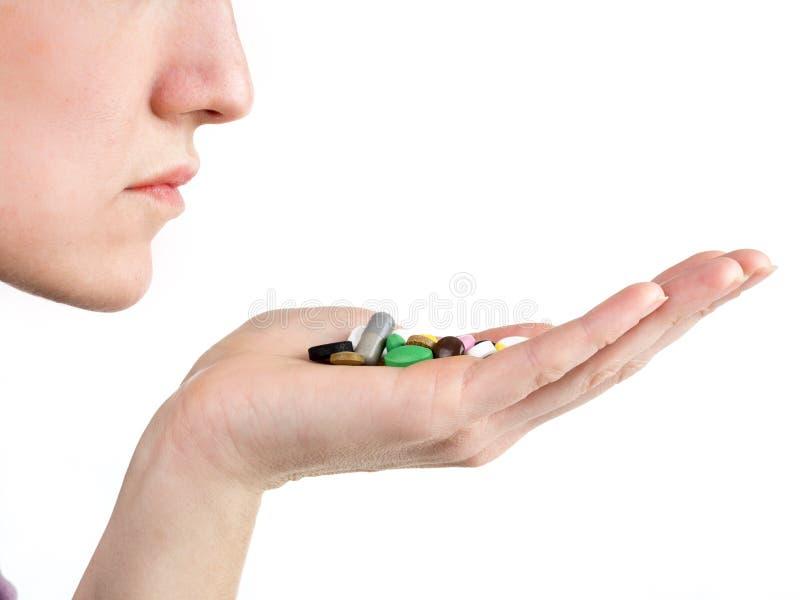 Dosage médical quotidien photo libre de droits
