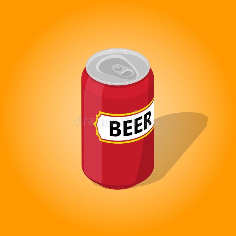 Dose Bier mit einem Schatten lizenzfreie abbildung