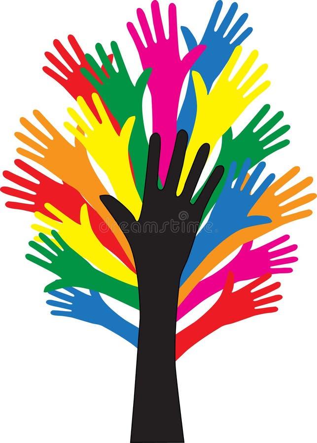 Dosięgać ręki wolności różnorodność ilustracji