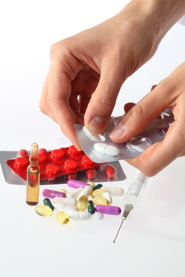 Dosierungdrogen stockbild