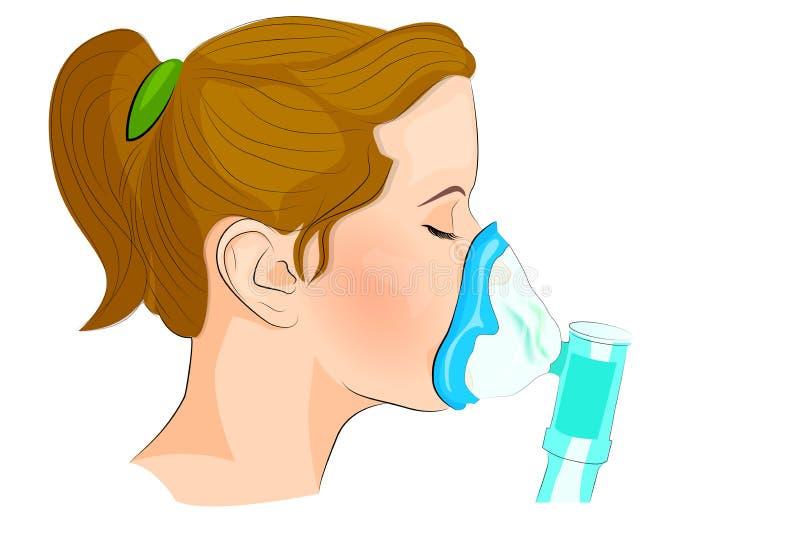 Dosificación de la inhalación para los adultos y los niños libre illustration