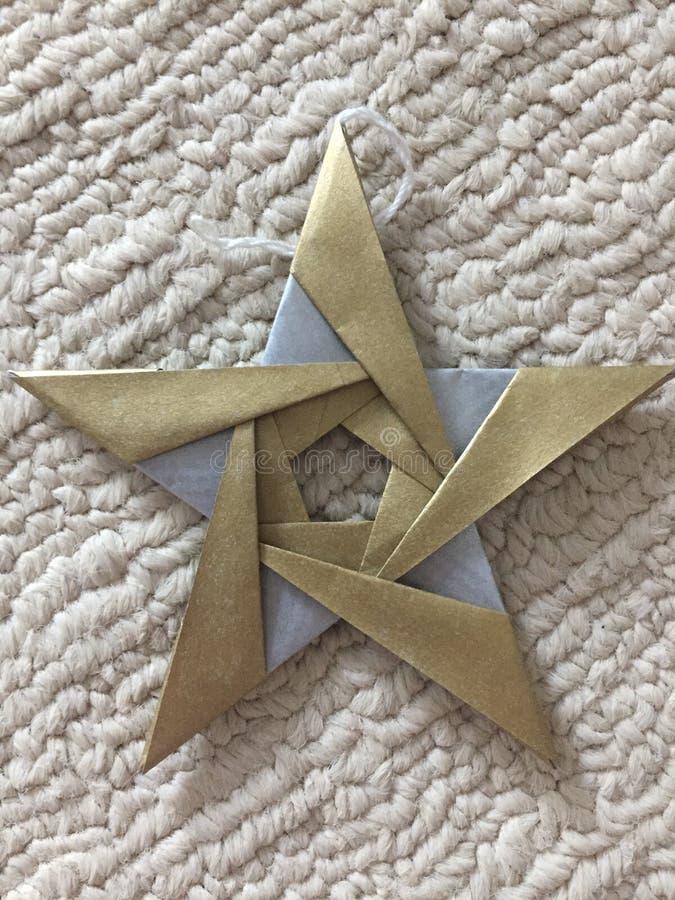 Doskonałość w origami gwiazdzie obrazy royalty free