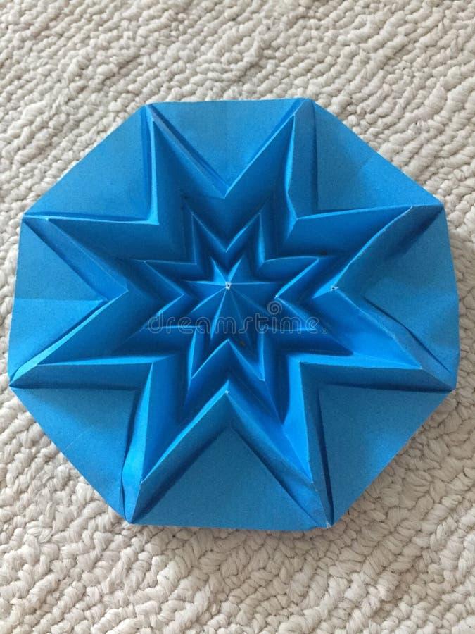 Doskonałość w origami gwiazdzie fotografia stock