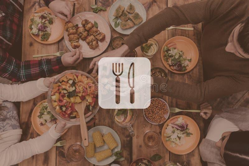 doskonały obiad fotografia stock