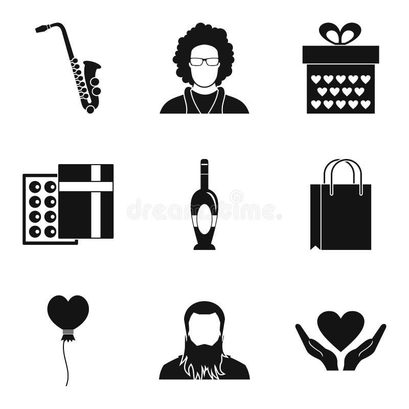 Doskonalić miejsce ikony ustawiać, prosty styl royalty ilustracja