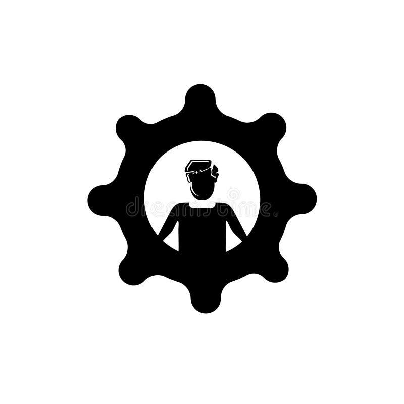 Doskonalić pracownik ikony wektor odizolowywający na białym tle, Doskonalić pracownika znak, biznesowe ilustracje royalty ilustracja