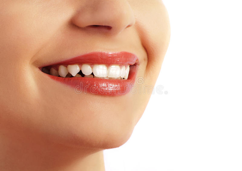 doskonalić uśmiechów zęby zdjęcia royalty free