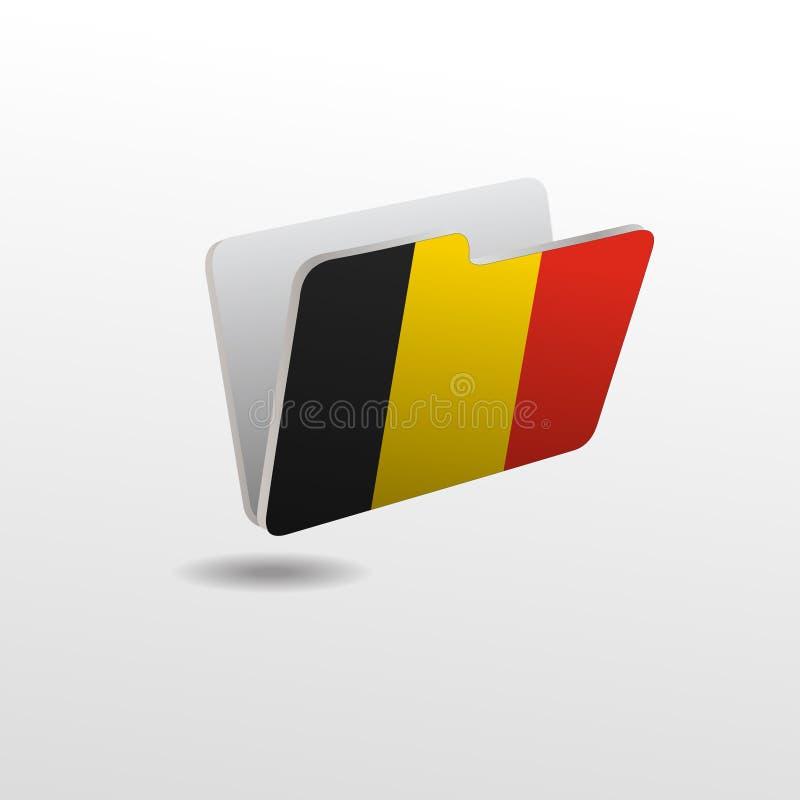 dossier avec l'image du drapeau de la BELGIQUE illustration stock