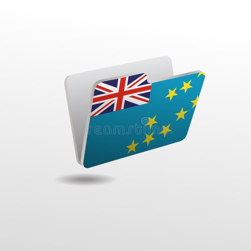 Dossier avec l'image du drapeau du TUVALU illustration de vecteur