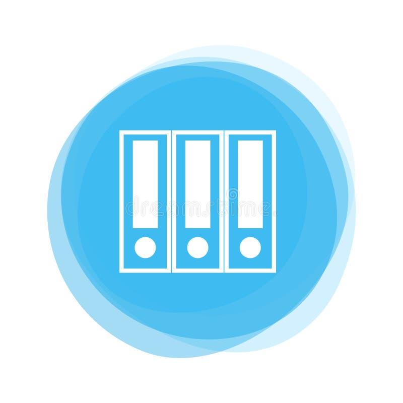 Dossier blanc sur le bouton bleu-clair illustration stock