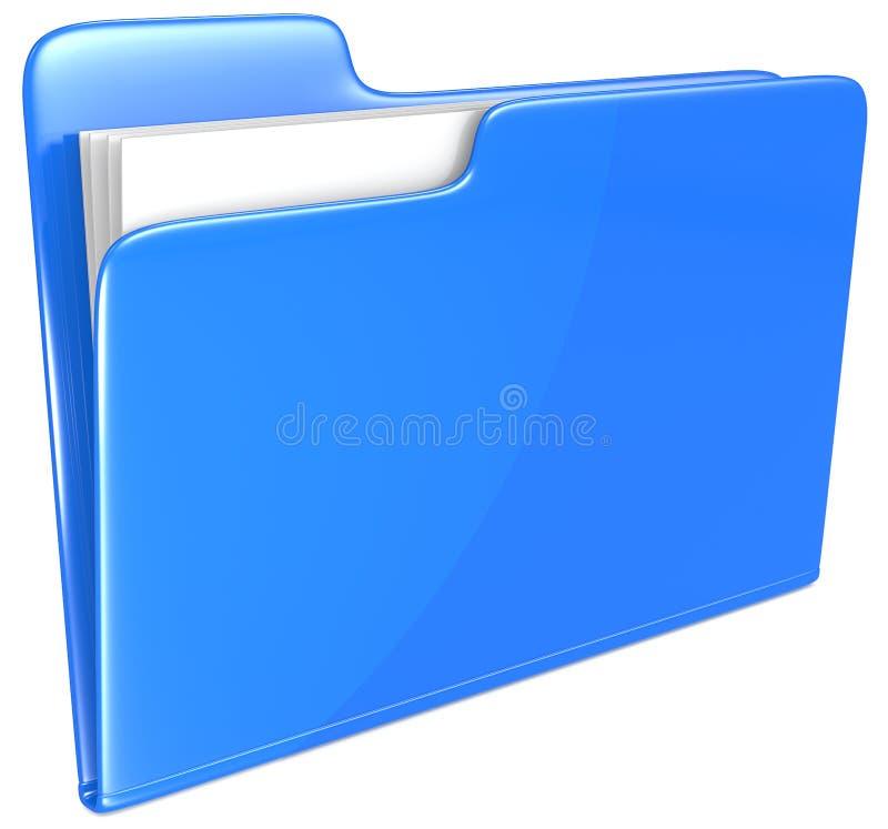 Dossier bleu. illustration stock